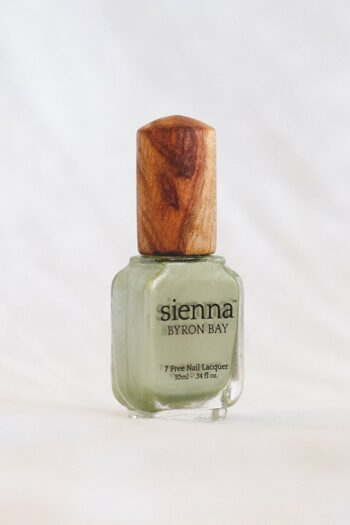 green gold chrome nail polish