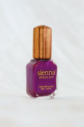 purple shimmer nail polish