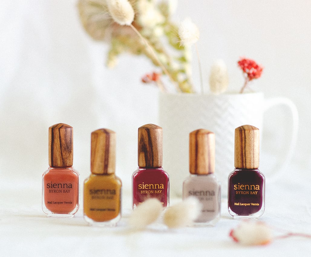 Sienna Byron Bay Nail polish Autumn Colours