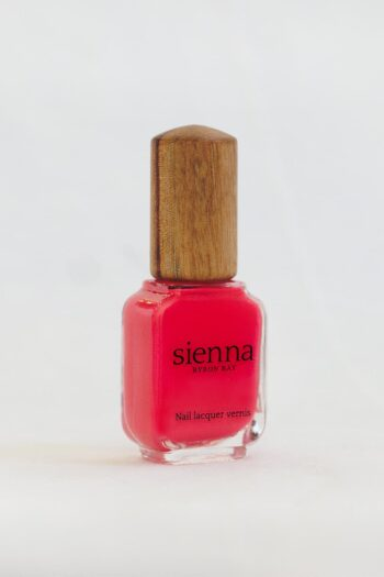 raspberry pink nail polish bottle