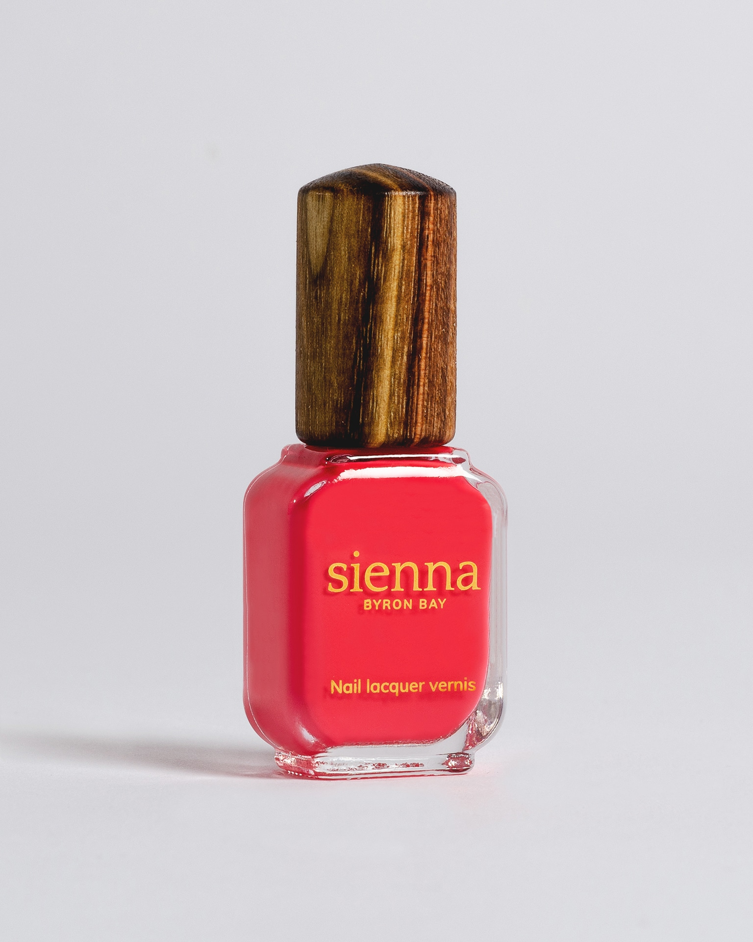 barbie pink nail polish bottle with timber cap by sienna