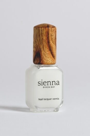 nail strengthener glass bottle with timber cap from sienna